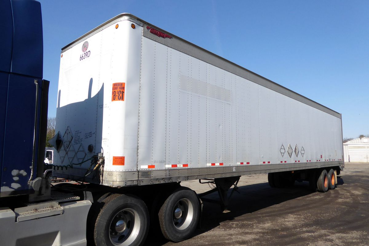 2001 Great Dane 7311ta 48 Tandem Axle Dry Box Trailer For
