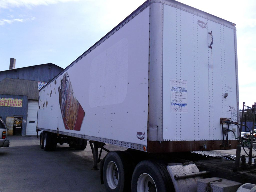 Used Vans For Sale >> 1992 Wabash 48' Tandem Axle Dry Box Trailer for sale by ...