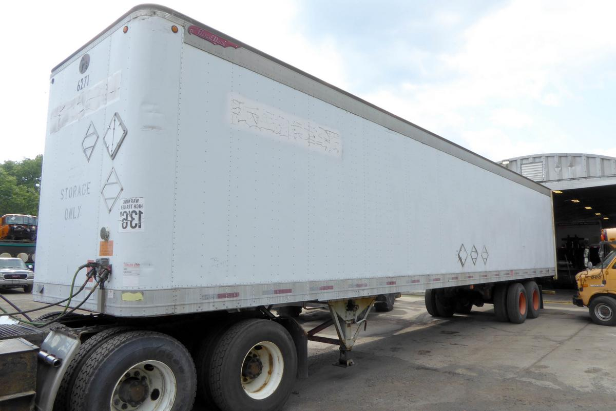 1995 Great Dane 7311ta 48 Tandem Axle Dry Box Trailer For