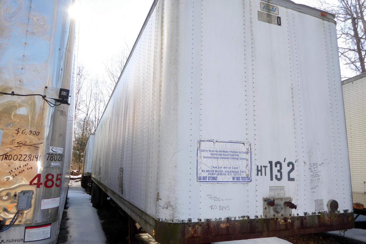 1981 Budd 45 Tandem Axle Dry Box Trailer For Sale By